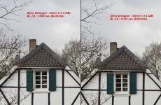 Carl Zeiss Distagon T* 35mm 1:1.4 ZE an Canon 5D MK II : Bl. 2.8 vs. 4.0