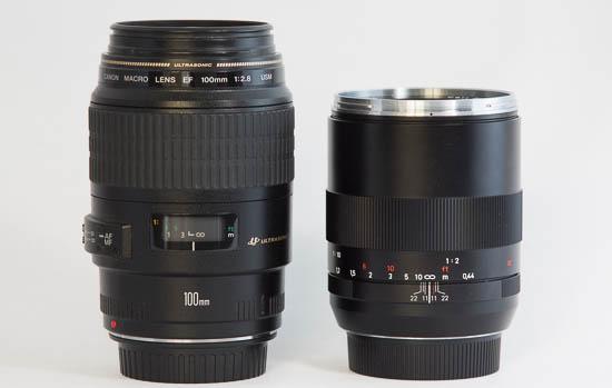 Canon EF 100mm f/2.8 Macro USM & Carl Zeiss Makro-Planar T* 100mm f/2.0