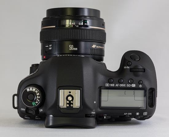 Canon EOS 5D Mark III - Sicht von oben