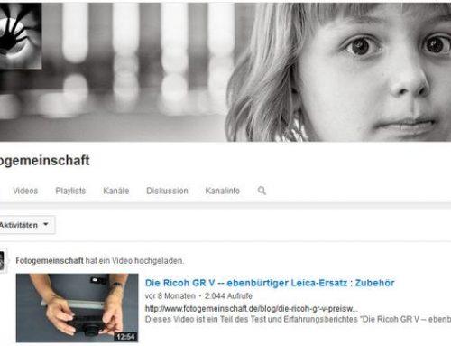 Youtube-Videokanal der Fotogemeinschaft